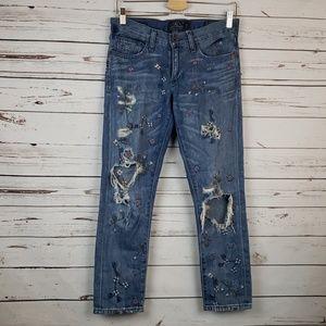 Lucky Brand Selinna Slim Boyfriend Jeans Sz 0/25